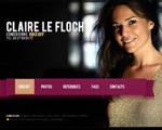 Photo du site de Claire Le Floch, voix off