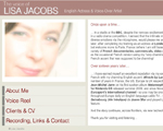 Photo du site de Lisa Jacobs, english voice over talent